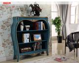 美式书柜自由组合柜实木简易储物柜落地装饰柜摆件收纳柜原木家具