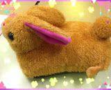 可拆洗卡通小兔充电暖手宝热水袋双插手电暖宝包邮暖水袋防爆