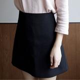 2016夏季新款韩版高腰显瘦OL简约修身a字半身裙女伞裙弹力潮短裙