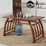 全实木茶桌椅榆木仿古茶台中式古典功夫茶几简约长方形泡茶桌包邮