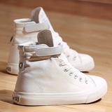 2015小布鞋女夏季帆布鞋学院高帮韩版旅游时尚跳舞鞋内增高小白鞋