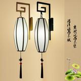 新中式壁灯 现代简约土豪金中式灯仿古客厅卧室创意火锅店壁灯