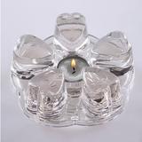 纯手工花果茶具圆形耐高温玻璃底座花草茶壶套装蜡烛暖茶器加热器