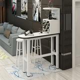 家用简易靠墙吧台 创意酒柜组合客厅隔断家庭桌简约现代桌椅定制