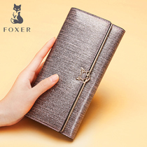 Gold Fox wallet female long section 2019 new wallet Europe and the United States Ms. clutch bag large capacity multi-card ticket folder tide
