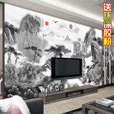 大型壁画定制古典中式国画风格水墨山水客厅卧室书房沙发背景墙纸