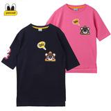 韩国正品PANCOAT大眼睛代购直邮 16春夏女士短袖中长款连衣裙T恤