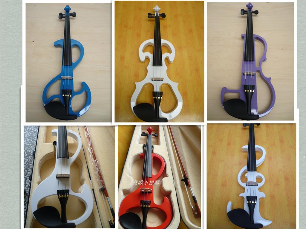 电小提琴价格_初学者全手工白色电子小提琴 电小提琴 9个款式选择商品图片价格