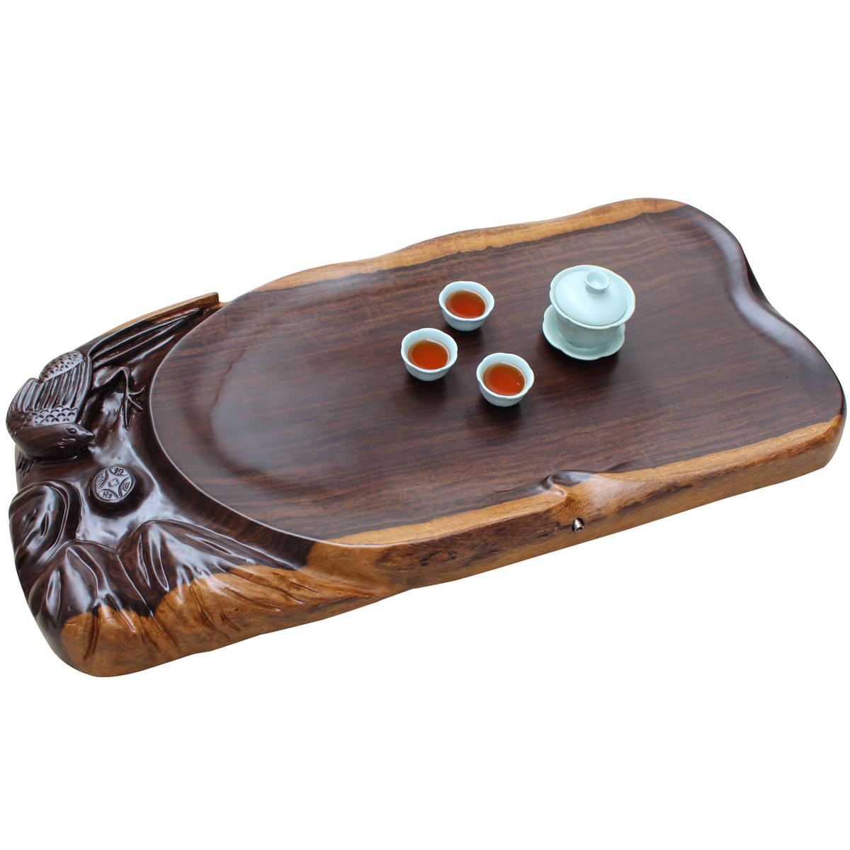 黑檀实木茶盘整块木料大板茶海茶具茶道大号茶盘喜在眼前商品图片价格