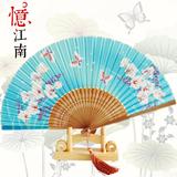 西祠宫坊 中国风 特色礼物 送老外 真丝工艺折扇 扇子出国礼品