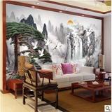 3D无缝大型壁画 水墨山水画中国风  现代中式客厅电视背景墙壁纸