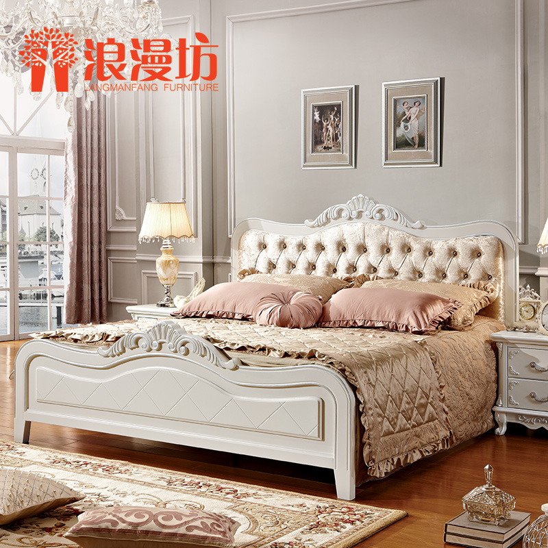 欧式床白色图片