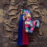 王的手创 幸福马 汽车挂件饰品 原创手工刺绣民族复古创意diy礼物