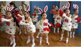 儿童动物表演服装 小白兔演出服 幼儿舞蹈演出服 幼儿兔子服装