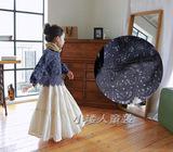 外贸韩版童装女童秋装上衣长袖娃娃衫儿童罩衫短外套文艺范民族风