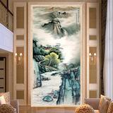 国画山水 水墨风景画壁画 无缝大型壁纸 玄关背景墙纸/定制 新款