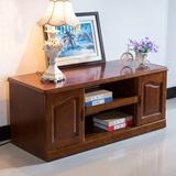 包邮中式宜家客厅家具橡木实木两门小型视听柜电视柜储物柜地柜
