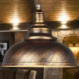 欧式客厅古铜色吊灯美式复古工业酒吧台复式楼美发餐厅铁艺吊灯具