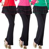 舞乐滋 广场舞服装 新款 夏季女式长裙裤 莫代尔广场舞裙裤2015