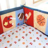 外贸婴儿床品套件宝宝床上用品三件套春秋被床围床笠出口美国