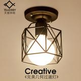 美式乡村吸顶灯北欧韩式欧式走廊过道玄关阳台试衣间门厅铁艺灯具