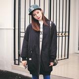 2015韩国东大门反季新品宽松棉衣女中长款棒球服修身显瘦秋冬外套
