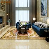 客厅地毯抛晶砖拼图 欧式玄关大厅过道抛金砖地砖拼花地板砖瓷砖