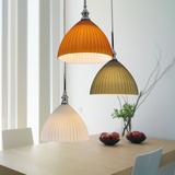 现代简约玻璃餐厅吊灯 LED餐吊灯三头单头创意个性饭厅吧台灯饰