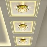 富贵莲花LED水晶过道灯走廊灯个性玄关灯创意吸顶灯新款灯具061