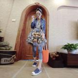 欧洲站2016春夏新款女装欧货潮 修身短款牛仔衣外套+内搭连衣裙女