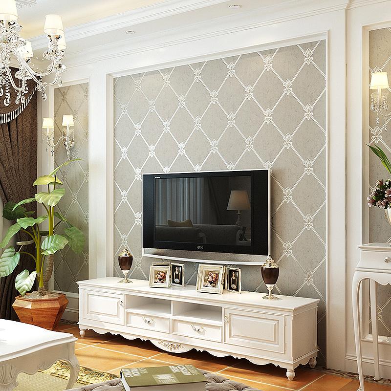 本木无纺布影视墙壁纸3d客厅欧式电视背景墙墙纸卧室简约现代软包商品图片
