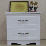 简易欧式烤漆床头柜简约现代象牙白色 韩式宜家床边实木柜子特价