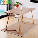 北欧小户型橡木餐桌椅组合简约现代时尚纯实木餐桌长方形桌子饭桌