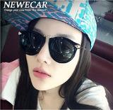 新款华丽舒适墨镜女潮人太阳镜欧美时尚潮复古大框圆女式太阳眼镜