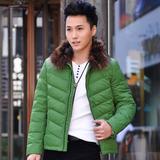 魅力部落翻领加厚外套青少年男士短款修身外穿修改羽绒服ML15022