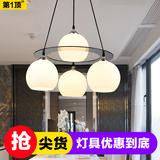 餐厅灯简约现代创意餐吊灯led水晶灯三四头饭厅灯书房灯吧台灯具