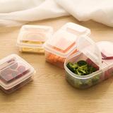 日本进口密封盒保鲜盒长方形便当盒干货零食水果冷藏盒子耐热塑料
