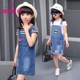 女大童夏装2016新款潮儿童衣服女童两件套童装女装女孩连衣裙套装