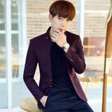 春秋英伦男士小西装韩版修身薄款男版西服上衣商务青年休闲外套潮