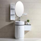 欧式小户型浴室柜圆台上盆洗脸盆洗手池组合柜卫浴柜落地吊柜镜柜
