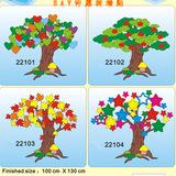 新品班级教室布置墙贴许愿树心愿树成长树装饰用品贴纸画包邮