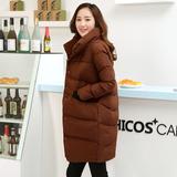 2015冬装新款大码学生面包服 女 韩版宽松中长款茧型加厚棉服外套