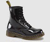 特价现货Dr. Martens 马丁女鞋经典款亮皮马丁靴中筒靴1460