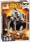 包邮博乐积木10376 AT-DP步行机甲星球大战系列儿童益智玩具组合