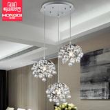 欧式水晶吊灯饰餐厅灯具创意卧室客厅吧台走廊三头灯个性简约现代