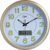 康巴丝挂表静音夜光客厅卧室挂钟现代创意时钟万年历石英电子钟表