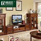 欧式电视机柜 美式全实木复古客厅简约地柜雕花矮柜简约储物柜