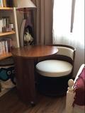 欧式可移动电脑桌简约现代宜家卧室创意省空间实木电脑桌家用书桌