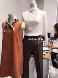 韩国货白色黑色褶皱风琴雪纺纱透视显瘦气质长袖T恤上衣打底衫女
