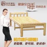 申永实木折叠床松木床单人床1米午休床简易床0.8米成人双人床新款